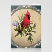 cardinal Stationery Cards featuring Cardinal by Ludovic Jacqz