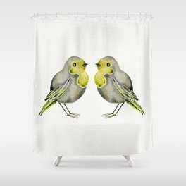 Little Yellow Birds Shower Curtain