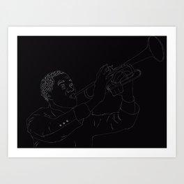 Lineart Louis Armstrong Art Print