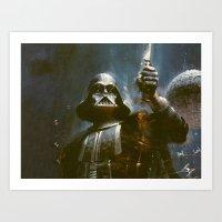 Darth Vader Vintage Art Print