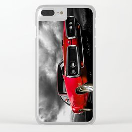 Dodge Badass Red Clear iPhone Case