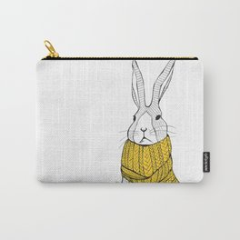 Rabbit in a yellow scarf Carry-All Pouch