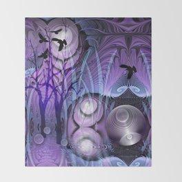 Magical Swamp Throw Blanket