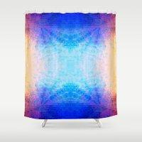 mirror Shower Curtains featuring Mirror by Vargamari