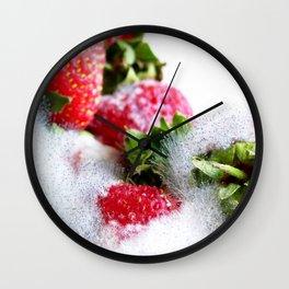 Strawberry Spores Wall Clock