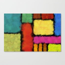 Tracks of colors Canvas Print