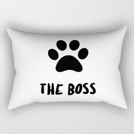 Funny Boss Cat Paw Print Rectangular Pillow