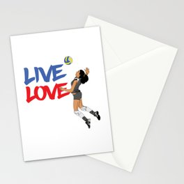 Volleyball Live Love Stationery Cards