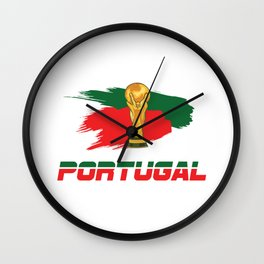 World cup portugal Wall Clock