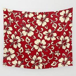 Malia Hawaiian Hibiscus Aloha Shirt Print Wall Tapestry