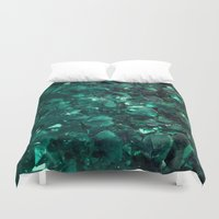 emerald Duvet Covers featuring Emerald by Lotus Effects