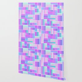 Abstract Holographic Pastel Pattern Wallpaper
