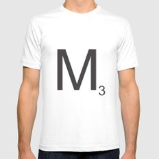 Scrabble M White Mens Fitted Tee MEDIUM
