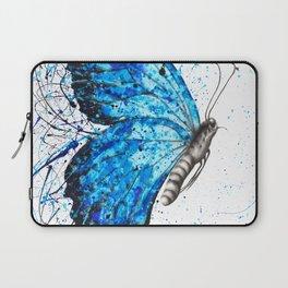 Blue Butterfly Rains Laptop Sleeve