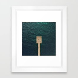 Pier From Above Framed Art Print