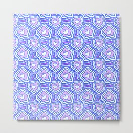 'I Love You Umlaut' Valentine's Pattern - Purple Dream Metal Print
