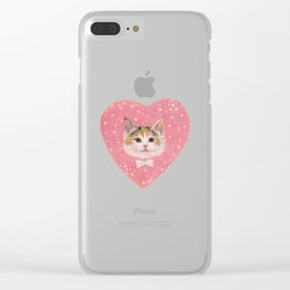 Galactic Kitten Clear iPhone Case