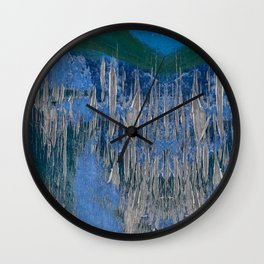 Shattered Blues Wall Clock