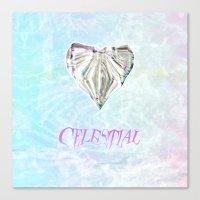 celestial Canvas Prints featuring Celestial by Peta Herbert