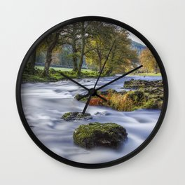 Autumn River Wall Clock