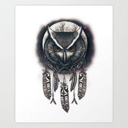 Dreamcatcher Owl Art Print