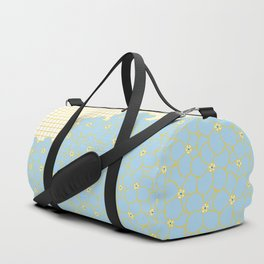 Forget Me Knot Gold Grid Duffle Bag