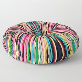 Toothpick Fusion Abstract Pattern Floor Pillow