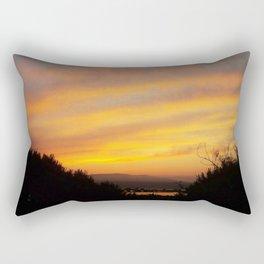 Lake at Sunset Rectangular Pillow