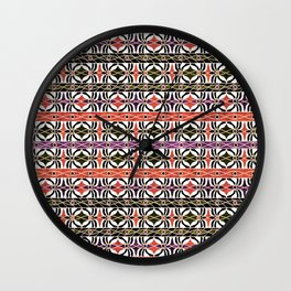 Ethnic striped pattern. Wall Clock
