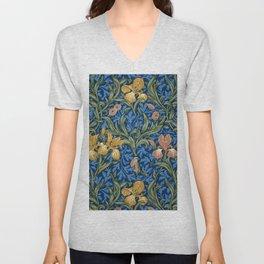 """William Morris """"Iris"""" 1. Unisex V-Neck"""