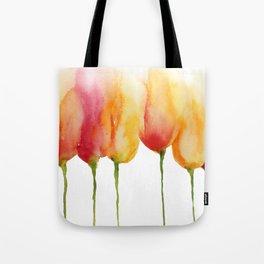 Flaming Tulips Tote Bag