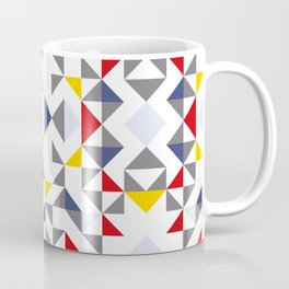 Geometric Pattern Vibes in White Coffee Mug