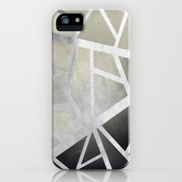 Textured Metal Geometric Gradient With Silver iPhone Case