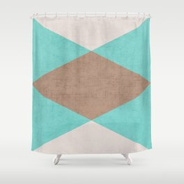 beach triangle Shower Curtain