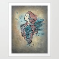 wings Art Prints featuring Wings by Annike
