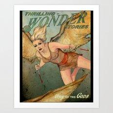 Thrilling Wonder Stories Art Print