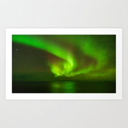 Northern Lights at the North Cape Norway Art Print