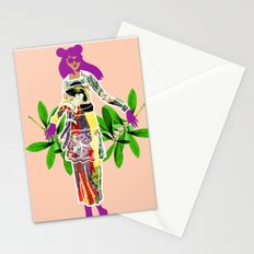 Girl in Utamaro Dress Stationery Cards
