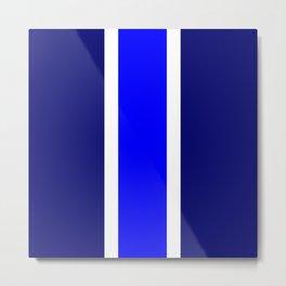 TEAM COLORS10....BLUE,NAVY Metal Print