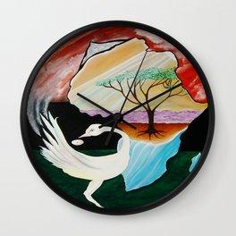 DREAM OF THE SANKOFA BIRD Wall Clock