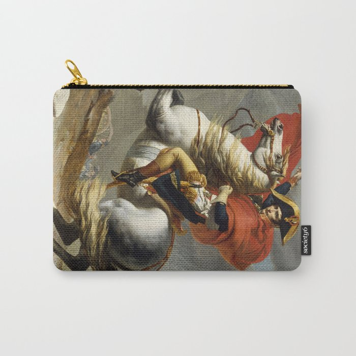 Napoleon Crossing the Alps by Jacques Louis David Carry-All Pouch