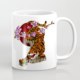 Tiger with cherry blossoms Coffee Mug
