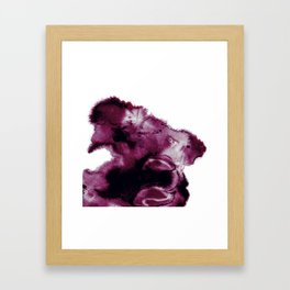 Black Cherry Scape Framed Art Print