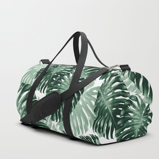 Tropical Monstera Jungle Leaves Pattern #1 #tropical #decor #art #society6 by anitabellajantzart