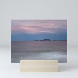 Beautiful Purple Sunset By Sea In Summer Mini Art Print
