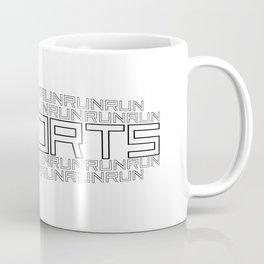 Run for relaxation, pleasure, health... white Coffee Mug