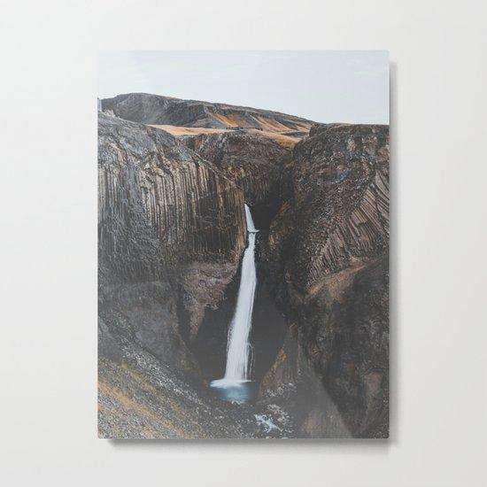 Hengifoss, Iceland X Metal Print