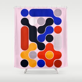 Mid-century no5 Shower Curtain