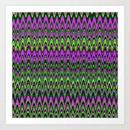 Making Waves Neon Lights Art Print