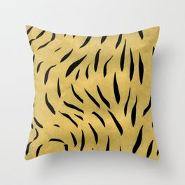 Doodle Lines Throw Pillow